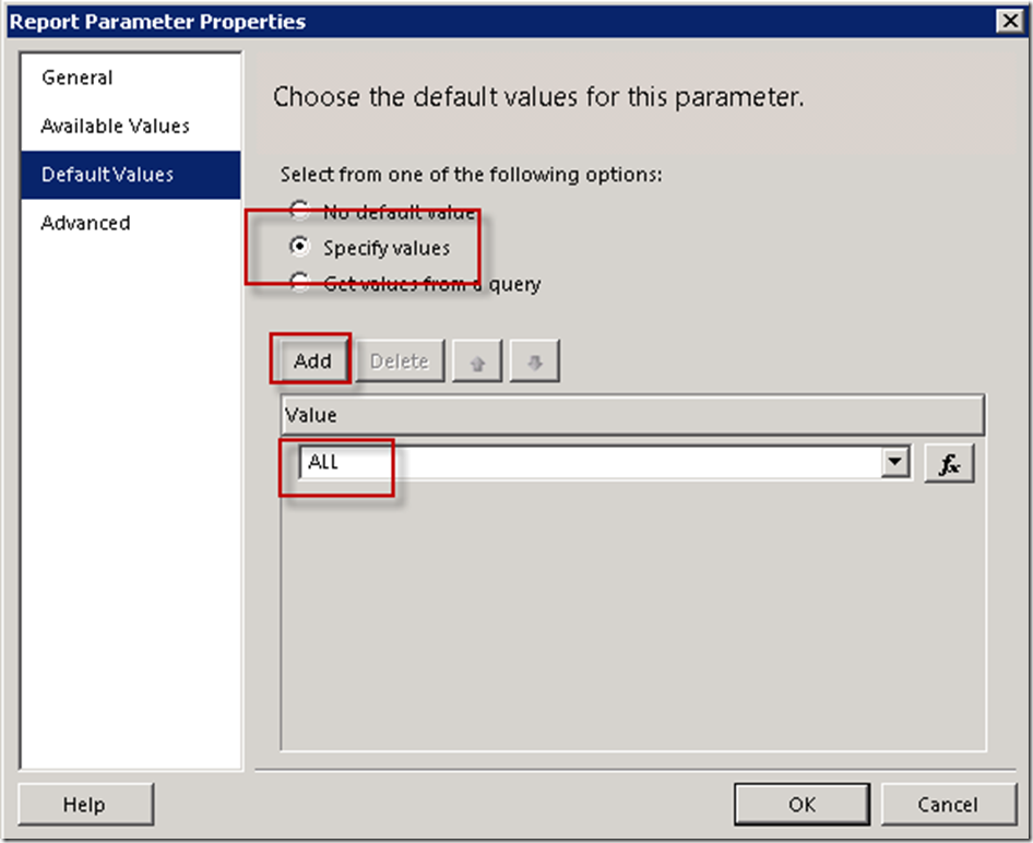 How to Default to ALL in an SSRS Multi-select Parameter