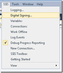 SSIS 2012 – Package Configurations Menu Option Missing – The
