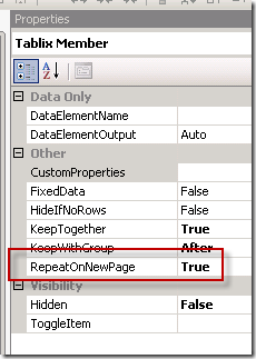 """SSRS """"Continued"""" Group Header on Subsequent Pages – The Data Queen"""