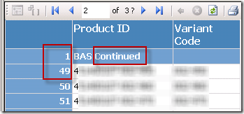 "SSRS ""Continued"" Group Header on Subsequent Pages – The Data"